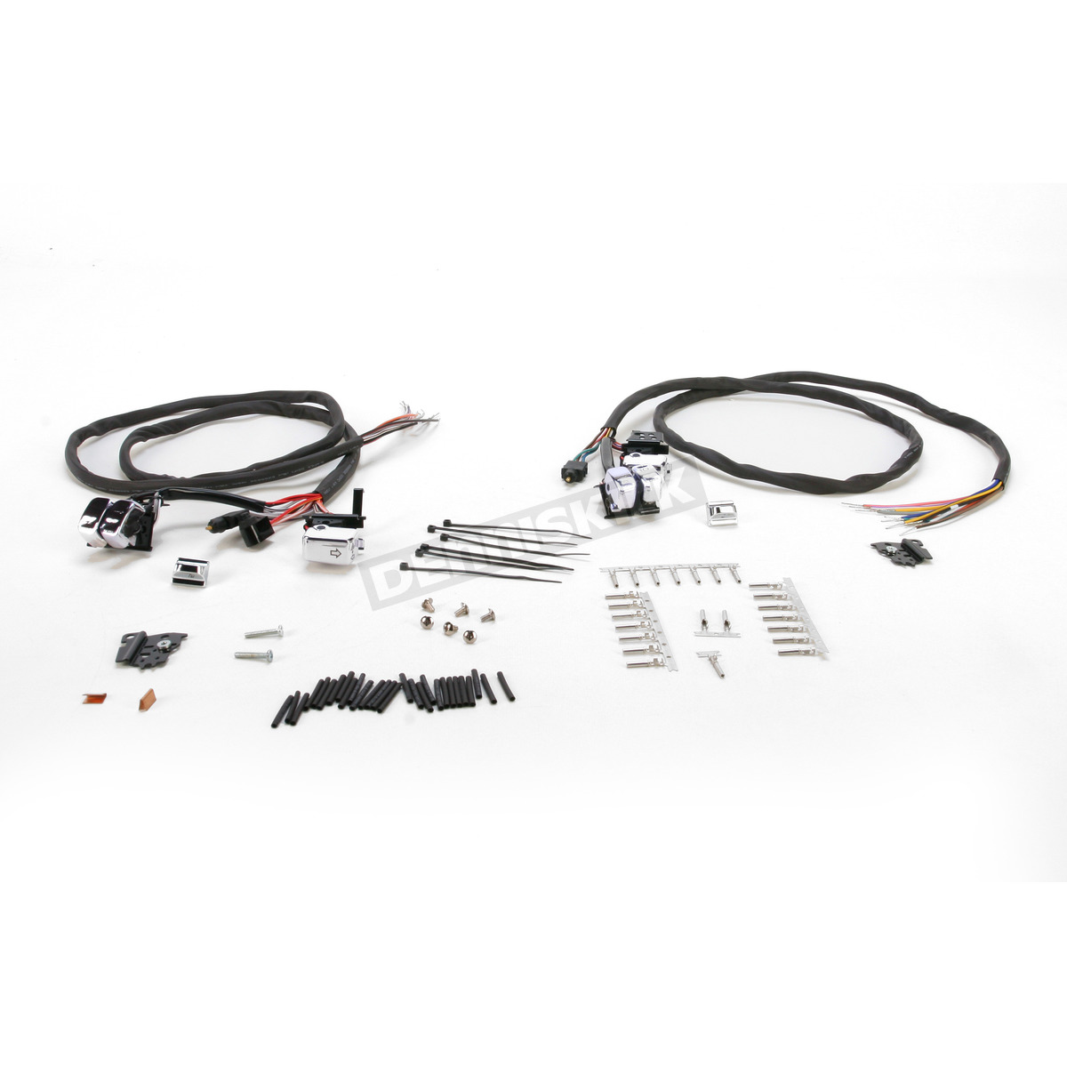 V Factor Chrome L E D Handlebar Switch Wiring Kit
