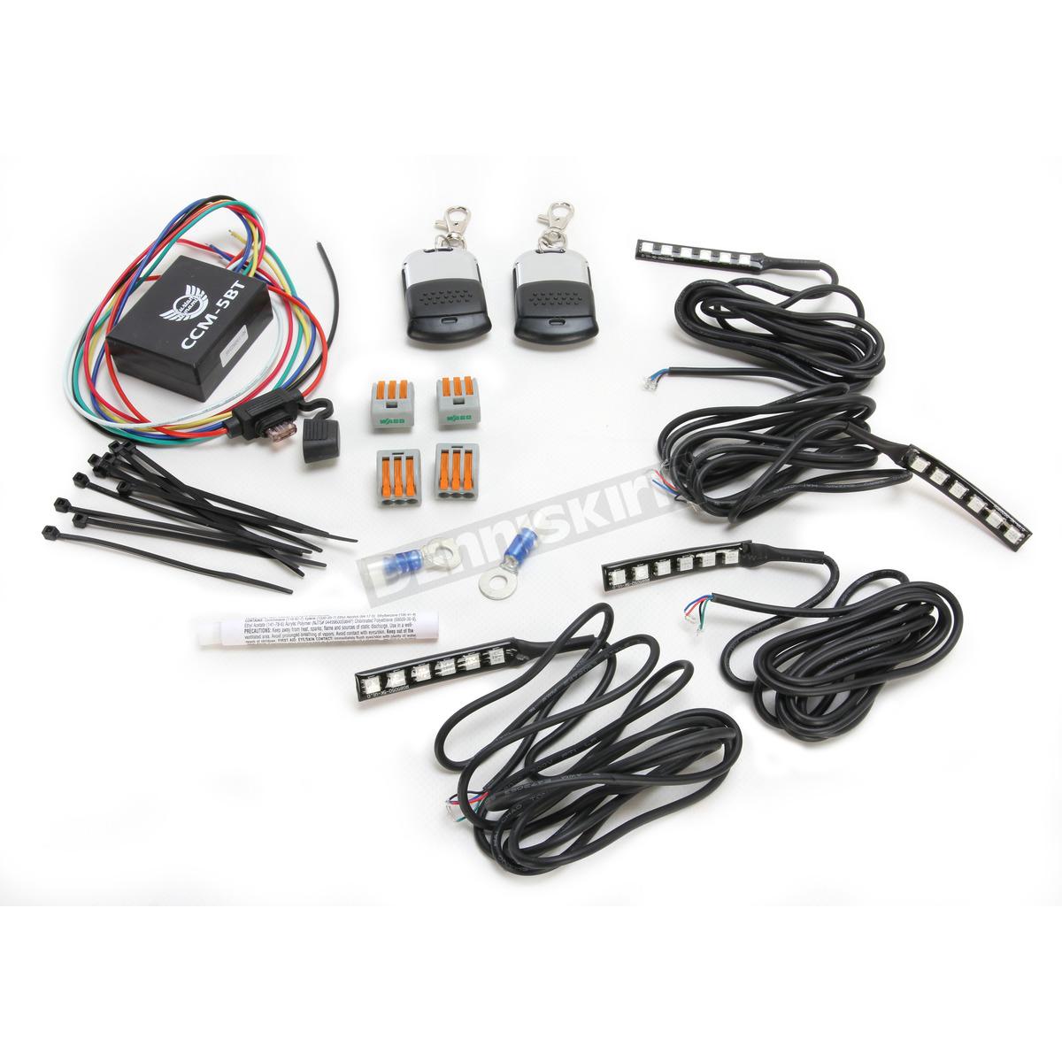 Custom Dynamics Slimline Magical Wizard Light Starter Kit W Bluetooth Color Command 5 Led Remote