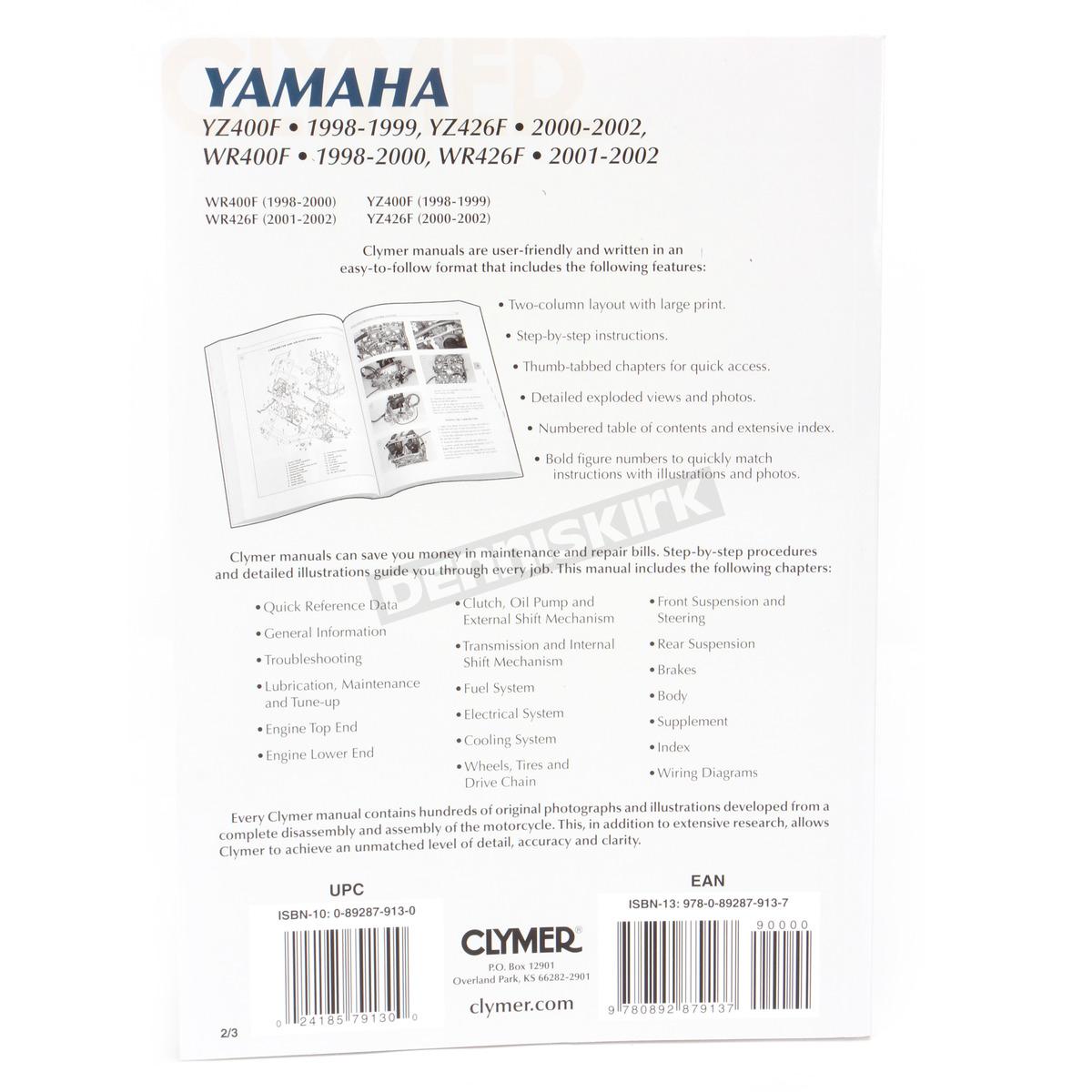 Clymer Yamaha Dirt Bike Repair Manual