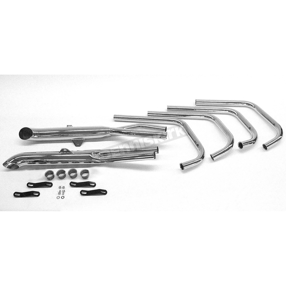 Mac 4 Into 2 Chrome Turnout Exhaust System