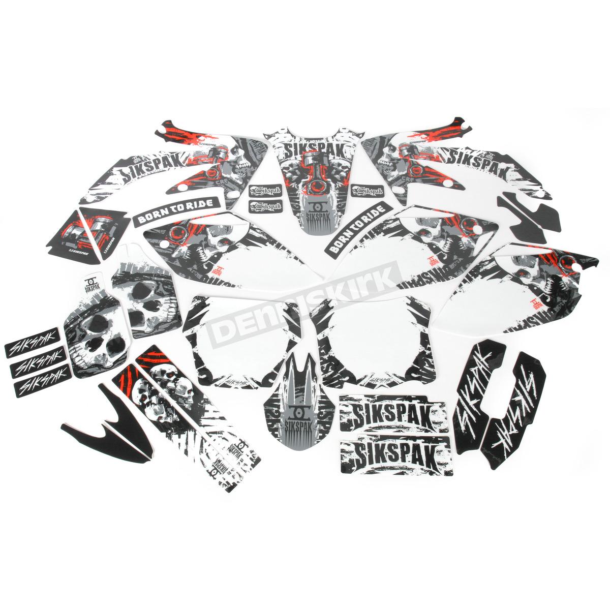 N Style Sikspak Crusher Graphics Kit Dirt Bike Motocross