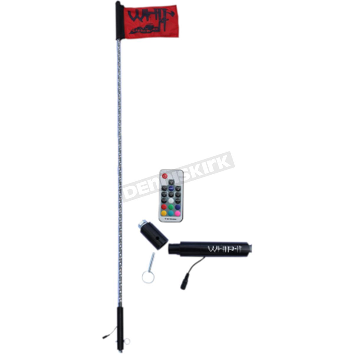 Whip It Light Rods Black 6 Ft Whip It Rigid Led Light Rod