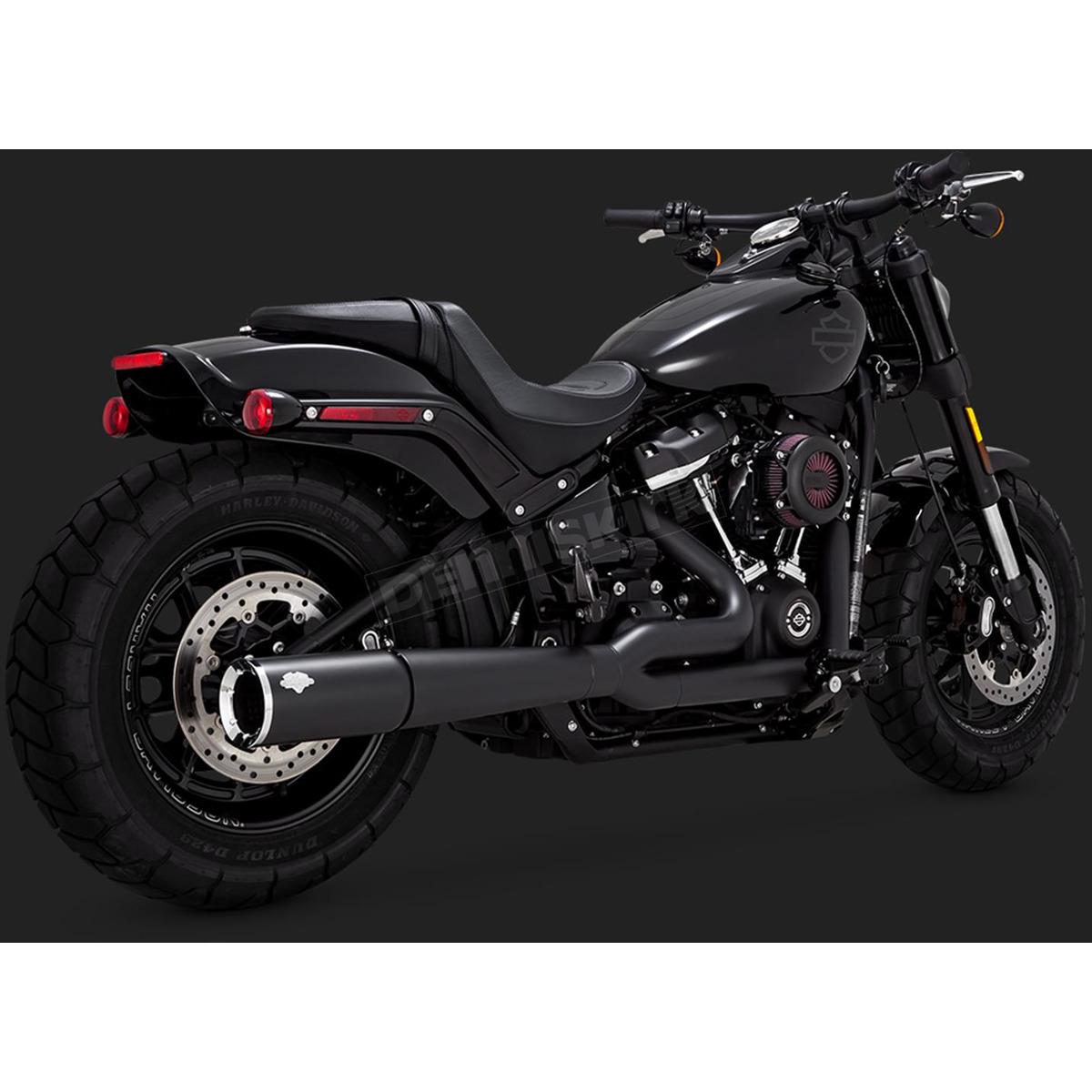 https www denniskirk com vance and hines black 2 into 1 pro pipe exhaust system 47587 p4410236 prd 4410236 sku