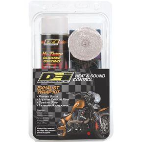 black wrap w black ht silicone coating exhaust wrap kit 901330