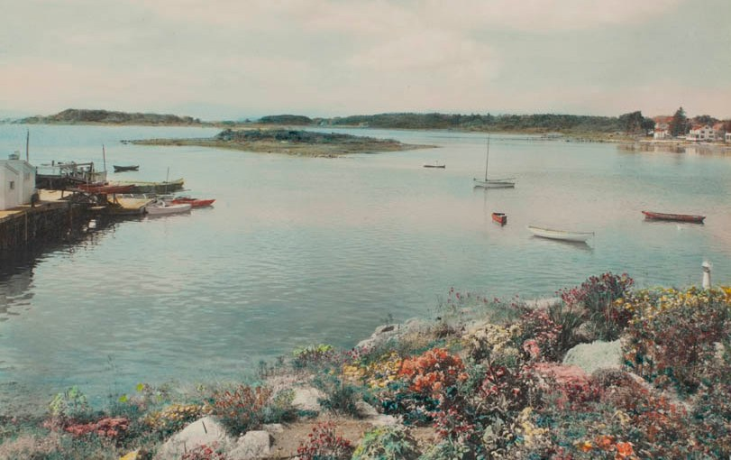 Cape Porpoise, Kennebunk hand painted photograph by Charles Henry Sawyer