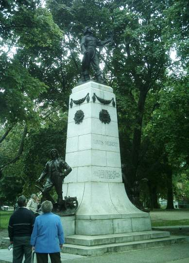 Louis Hébert monument. Photo by Jean Gagnon, CC BY-SA 3.0