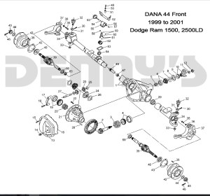DODGE DANA 44 DISCONNECT  Front axle parts for 94 to 02