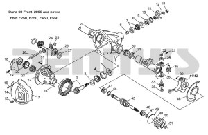 DANA 60 FRONT  FORD 2005 and newer