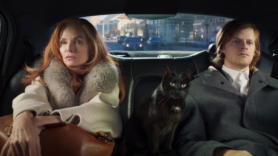 Michelle Pfeiffer and Lucas Hedges in French Exit