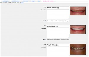 Screenshot demonstrating Flickr's layout for adding keywords and descriptions (alt text) to photos for SEO