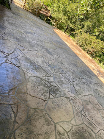 decorative concrete stamped stained