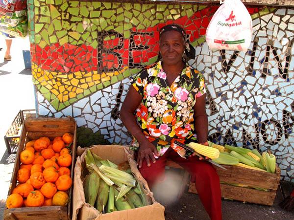 Venditrice di frutta