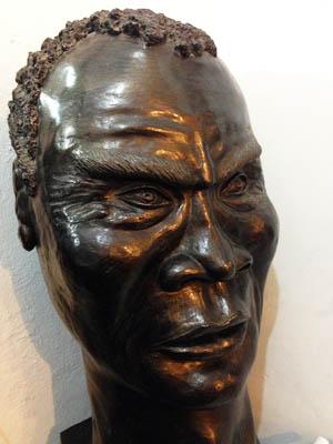 Volto di uno schiavo al Memorial dos Pretos Novos