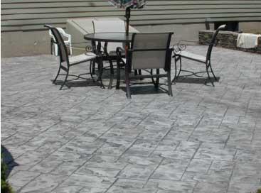 stamped denver concrete patio