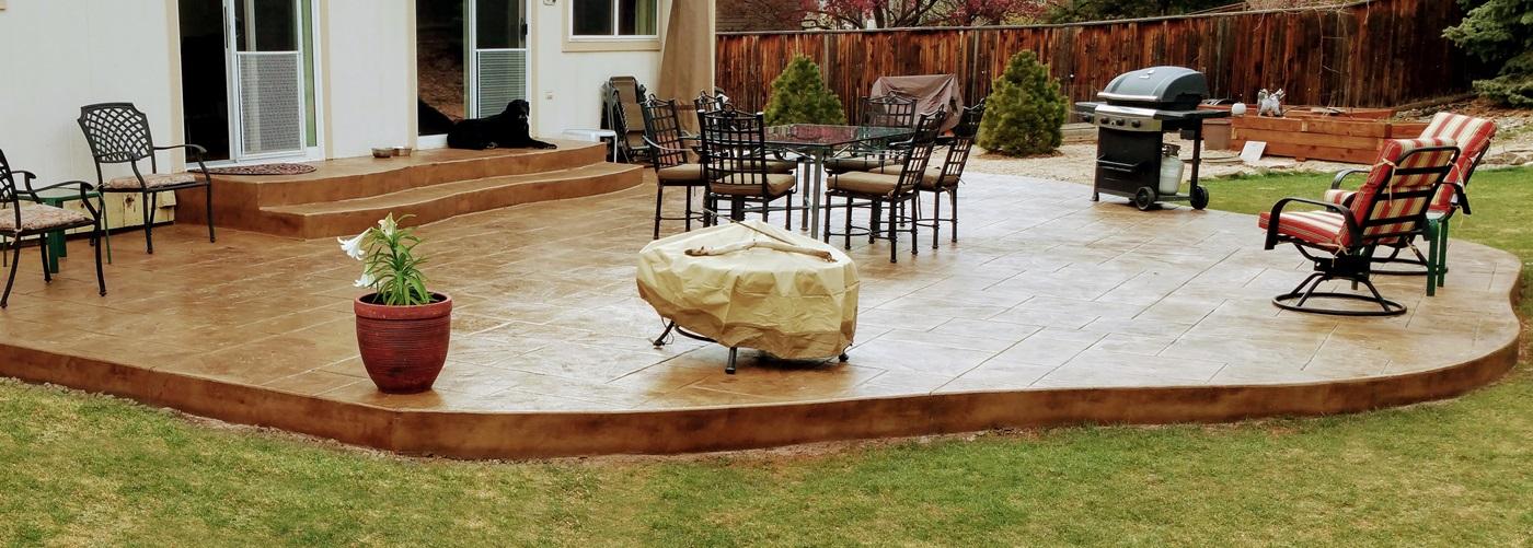 Denver Concrete Patios By Ju0027s Custom Concrete