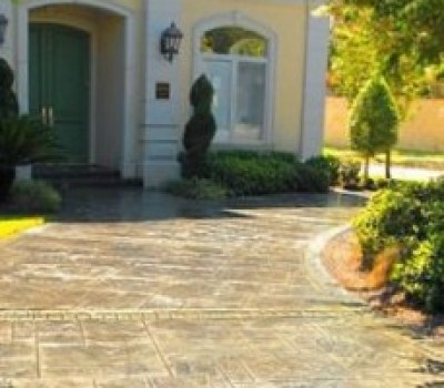Stamped Stained Concrete Denver Driveway