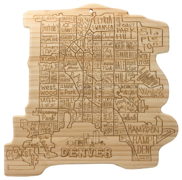 Denver Holiday Gift Guide -- Denver bamboo board --EcoMountain Home