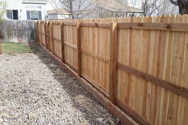 ceder fence A Straight Up Fence Company Denver