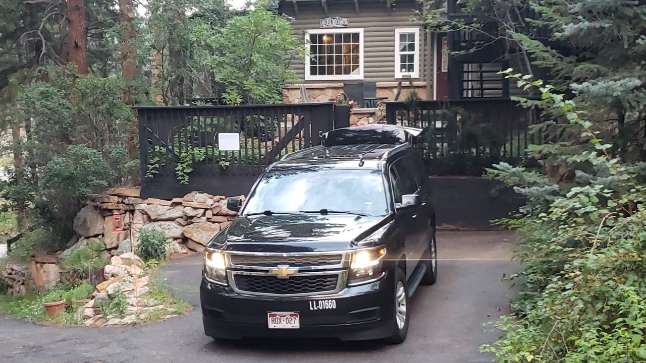 Luxury SUV waiting for a ride Evergreen Colorado