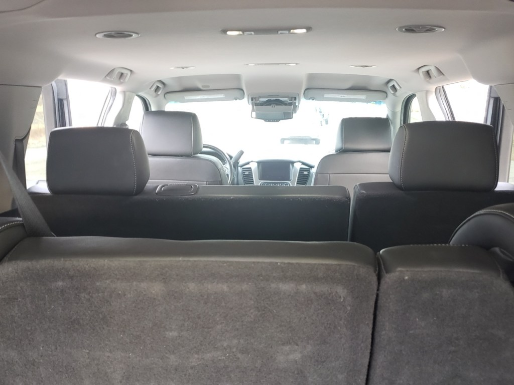 inside view of a black SUV