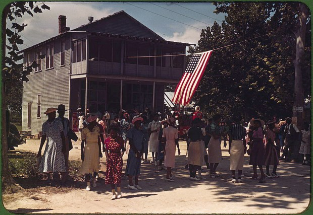 A Fourth of July celebration. St. Helena Island, South Carolina, 1939. Reproduction from color slide. Prints and Photographs Division, Library of Congress