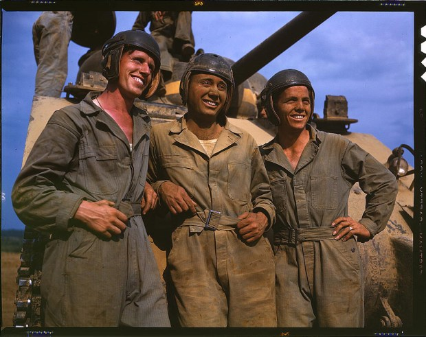 M-4 tank crews of the United States. Fort Knox, Kentucky, June 1942. Reproduction from color slide. Prints and Photographs Division, Library of Congress