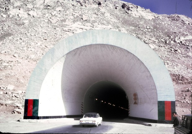 The Salang Tunnel, located in Parwan province, is a link between northern and southern Afghanistan crossing the Hindu Kush mountain range under the difficult Salang Pass. The Soviet-built tunnel opened in 1964.