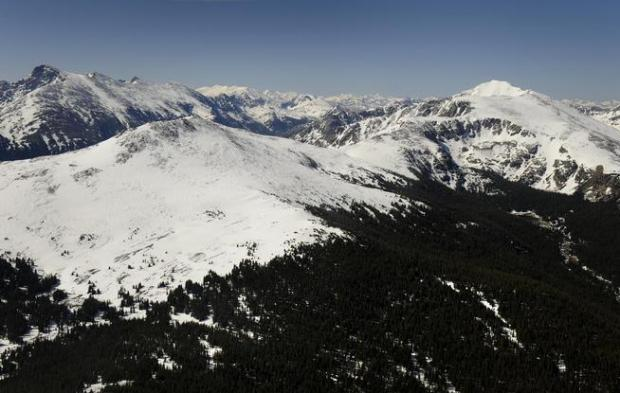 An aerial view of the Holy Cross Wilderness in the White River National Forest. There are more than 60 oil and gas leases in the national forest.