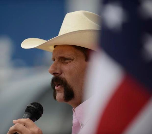 GRANBY, CO-July 12, 2013: State Sen. Randy Baumgardner, R-Hot Sulphur Springs, holds a campaign kickoff outside Maverick Grille in Granby, July 12, 2013. Baumgardner will challenge Democrat U.S. Sen. Mark Udall in 2014.(Photo By RJ Sangosti/The Denver Post)