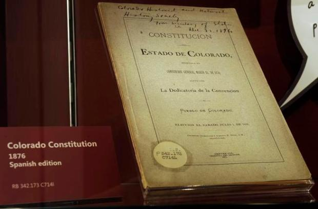 The Colorado Constitution appears at the History Colorado Center.