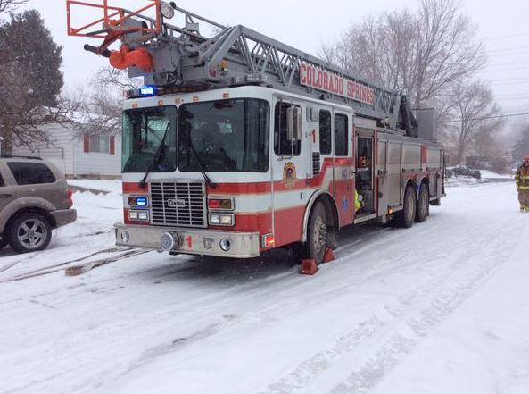 Two people were arrested, including a boy, after a hash oil fire in Colorado Springs, Feb. 26, 2015.