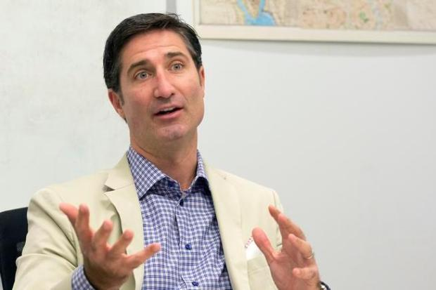 Taco Bell CEO Brian Niccol speaks during an interview at The Associated Press in 2015. Niccol was named Tuesday as the next CEO of Denver-based Chipotle Mexican Grill after five years with Taco Bell.