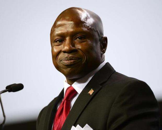 GOP Senate candidate Darryl Glenn made a rousing speech emphasizing his Christian faith.