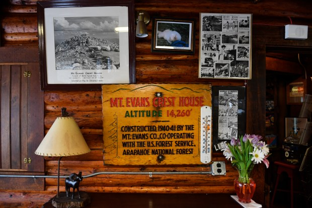 IDAHO SPRINGS, CO - MAY 16: Memorabilia is seen throughout the Echo Park Lodge near Mount Evans on May 16, 2016 in Idaho Springs, Colorado. Bill and Barbara's great grandparents started the concessions at Summit House atop Pikes Peak. Ever since, the Carle family has run many food-and-beverage and retail operations including Red Rocks, Buffalo Bill Museum, gift shops in Manitou Springs and Grand Lake and Mount Evan's Crest House and Echo Lake Lodge. That is a combined 123 consecutive years, and 5 generations, of running tourism businesses. 51 of those years have been at Echo Lake Lodge. (Photo by Helen H. Richardson/The Denver Post)