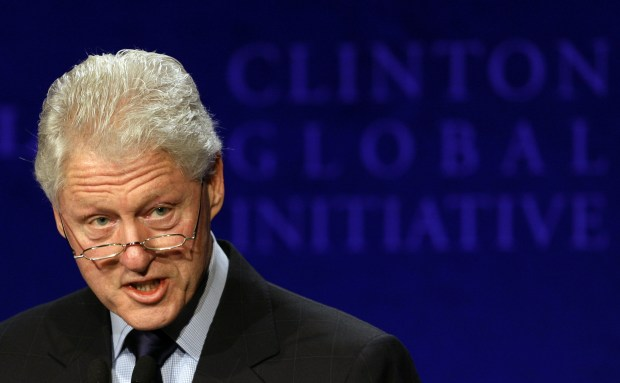 Former President Bill Clinton speaks during a 2008 meeting of the Clinton Global Initiative, which is part of the Clinton Foundation, in Hong Kong.