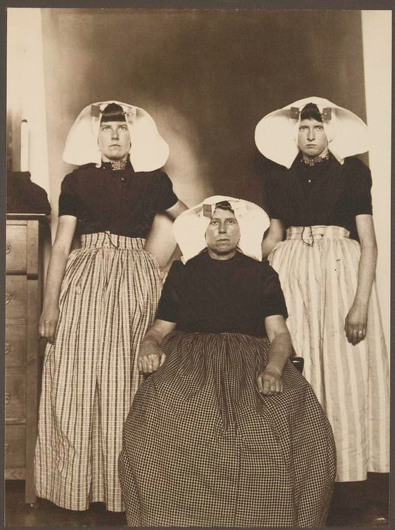 Three Dutch women. Photo courtesy of New York Public Library Digital Collections.