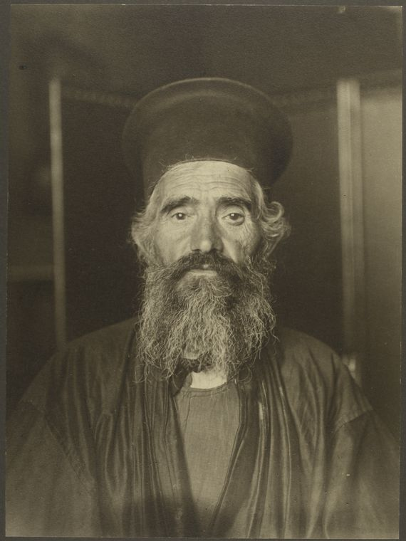 Rev. Joseph Vasilon, Greek-Orthodox priest. Photo courtesy of New York Public Library Digital Collections.