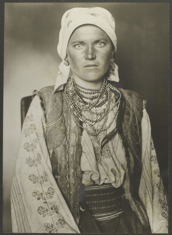 Ruthenian woman. Photo courtesy of New York Public Library Digital Collections.