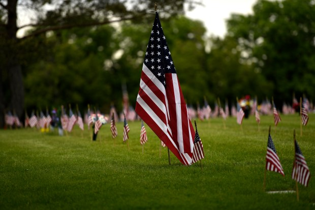 DENVER, CO - MAY 30: Memorial Day ceremony, 84th Anniversary of Remembrance at Fort Logan National Cemetery. May 30, 2016 in Denver, CO. (Photo By Joe Amon/The Denver Post)