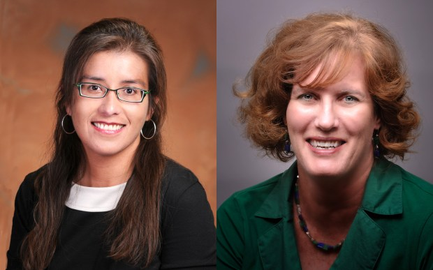 From left: Douglas County school board president Meghann Silverthorn and vice president Judith Reynolds.