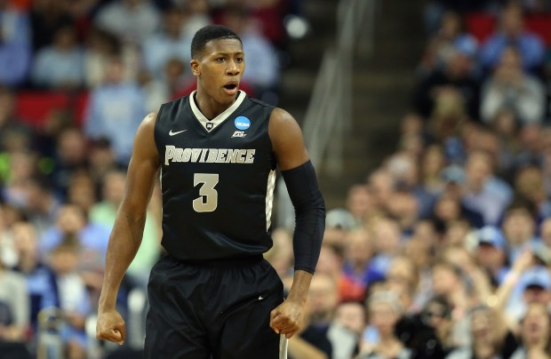 RALEIGH, NC - MARCH 19: Kris Dunn #3 of the Providence Friars reacts in the first half against the North Carolina Tar Heels during the second round of the 2016 NCAA Men's Basketball Tournament at PNC Arena on March 19, 2016 in Raleigh, North Carolina. (Photo by Streeter Lecka/Getty Images)