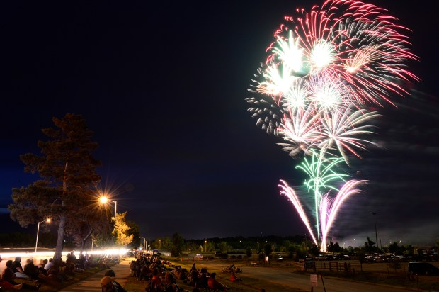 LONG4TH465a.jpg The fireworks show as seen from the Boulder County Fairgrounds in Longmont Saturday night. (Lewis Geyer/Staff Photographer) July 04, 2015