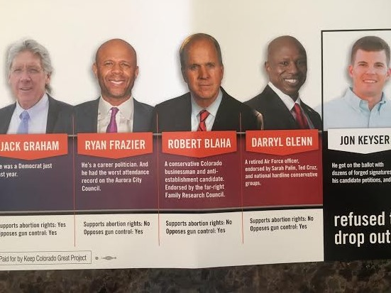 The Keep Colorado Great Project recently sent this mailer to voters about the Republican primary for U.S. Senate.
