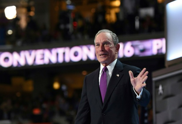 Former New York Mayor Michael Bloomberg Wednesday at the Democratic National Convention in Philadelphia.