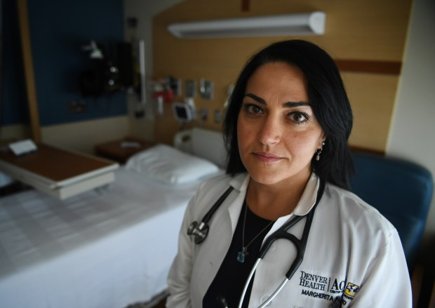 DENVER, CO - JUNE 23: Margherita Mascolo, MD, is the lead physician the ACUTE Center for eating disorders at Denver Health Medical Center, June 23, 2016. The program is for people who have severe medical complications resulting from anorexia and bulemia. (Photo by RJ Sangosti/The Denver Post)