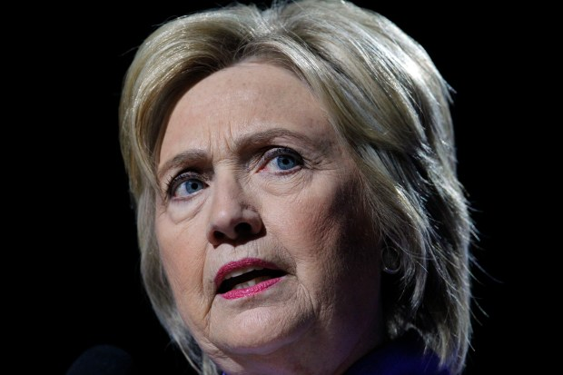 Democratic presidential candidate Hillary Clinton speaks at the NAACP Convention at the Duke Energy Center in Cincinnati on Monday.