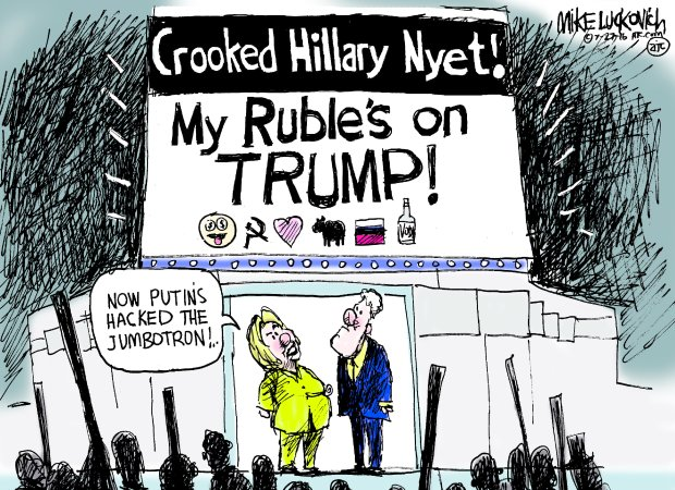 Image result for cartoons of trump in love w russia