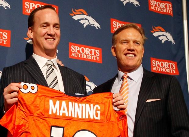 Peyton Manning and John Elway