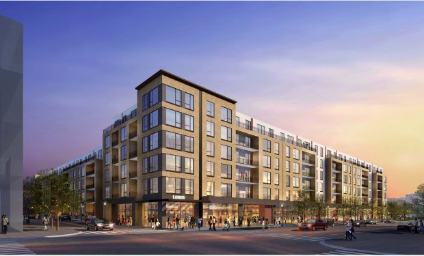 Opus Development Company broke ground Wednesday on The Glenn, a 306-unit apartment complex that will be the first new development in The Jones District in Centennial.