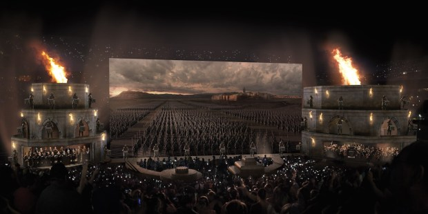 """Concept art for the """"Game of Thrones Concert Experience."""""""